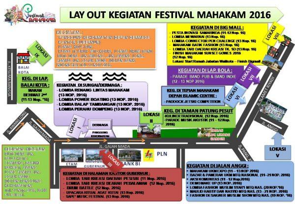 Lay out Kegiatan Festival Mahakam Kota Samarinda
